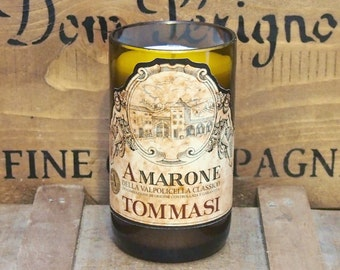 Upcycled Amarone Valpolicella Wine Bottle Candle