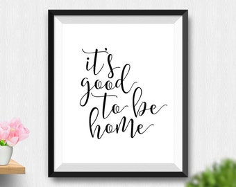 Home Wall Art it's good to be home   etsy