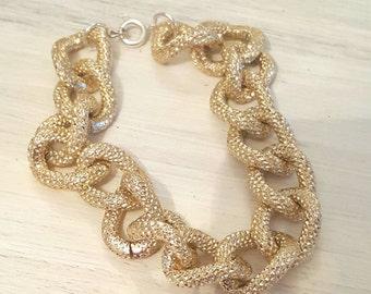 Gold Status Link Bracelet