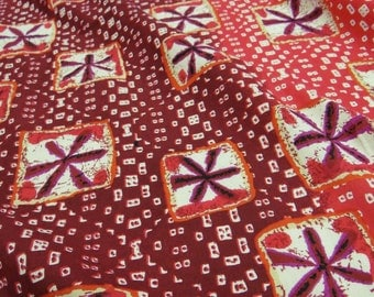 Indian Red Cotton Fabric Decorative Floral Print Fabric Indian Designer Fabric For Sewing Crafting Supplies Apparel Fabric By 1 Yard ZBC5258