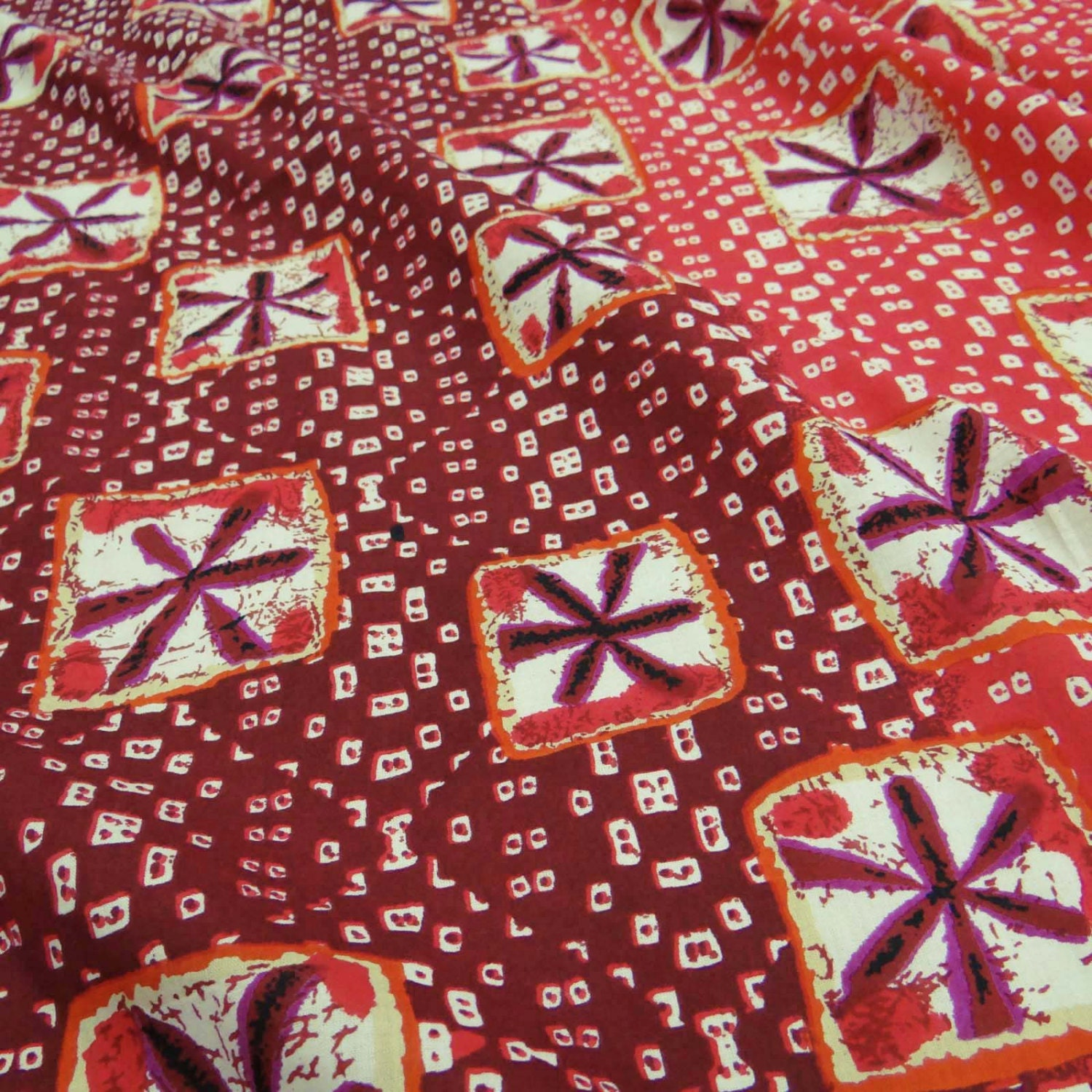 Indian red cotton fabric decorative floral print fabric for Fabric supply