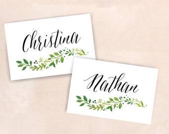 Botanical Placecard / Botanical Tablenumber / Wedding Place Card / Customized Wedding / Wedding Sign Botanical / Wedding Welcome Sign floral