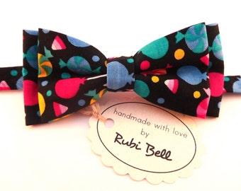 Boys Bow Tie - fun boys bow tie - colorful bow tie