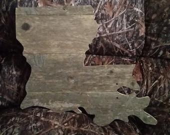 Rustic Home Decor Louisiana Wood Sign Wood Sign Wood Home Decor Louisiana Home Decor Reclaimed Louisiana