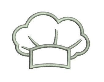 Cook Chef Hat Applique Embroidery Design 034