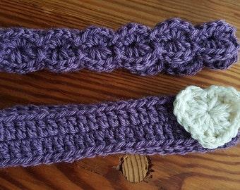0-3 Month Dusty Purple Headband Set of Two