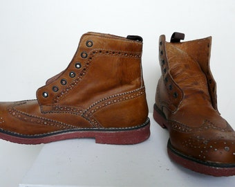 Leather Shoes - Ankle Boots - No. 39 (EUR)