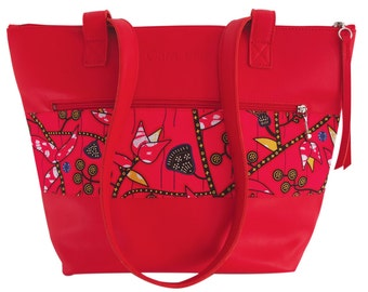 Bag Tote Leather - Red