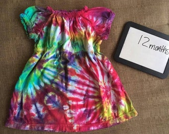 NEW Size 12m Tie Dyed Peasant Style dress