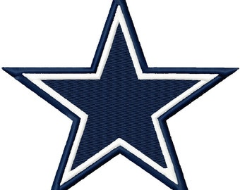 Star Solid Fill Embroidery Design 2x2 3x3 4x4 Cowboy Cowboys Dallas INSTANT DOWNLOAD