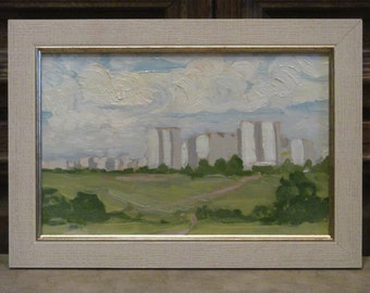 1977 Moscow edge. Oil painting. Artist Petov A. Signed