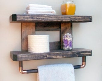 Rustic Bathroom Towel Rack, Bathroom Towel Rack