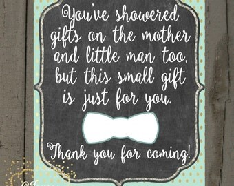 Baby Boy Shower Favors Sign 5x7