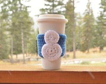 Snowman Coffee Cozy Sleeve