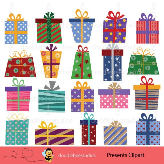 Presents Clipart, Christmas Presents Clipart, Birthday