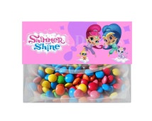 """Shimmer and Shine - 6.5""""x 2.5"""" ~ ~ Treat Bag ~Party Favor Toppers Birthday Printable Images ~  Digital  DIY"""