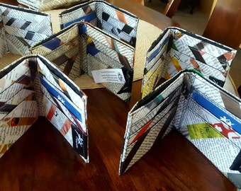 Recycled Cambodian Newspaper & Magazine Wallets