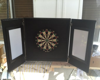 Custom Dartboard | Dartboard Cabinet | Game Room Dart Board | Man Cave Dart Board Cabinet | Shipping Included