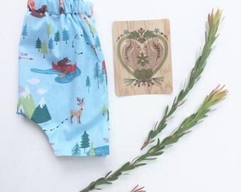 Woodland baby shorts