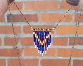 Chevron necklace, navajo necklace, bead necklace, boho jewelry