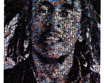 Bob Marley Mosaic Poster