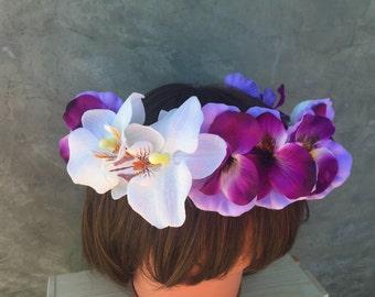 Flower Crown ,Wedding Crown, Festival Crown, Birthday Crown, Coachella head wear
