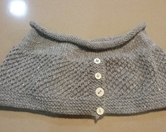 Hand Knit Sparkly Cowl