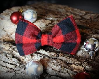 Bowtie Tartan red and black