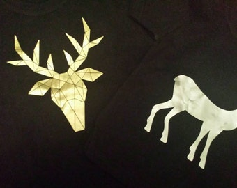 Metallic deer print T's