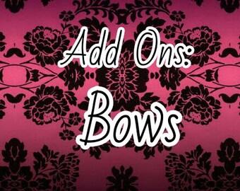 Tiny ribbon bows