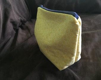 Yellow Flower Zipper Bag