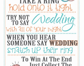 Hold Onto The Ring - Bridal Shower/Wedding Shower Game