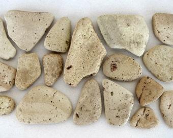 SALE! 18pcs Greek Terracotta found in Creta island, Yellow Terracotta Pieces, Sea Terracotta Pendants, Terracotta pottery shards #SP024