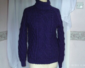 Grape Aran Sweater