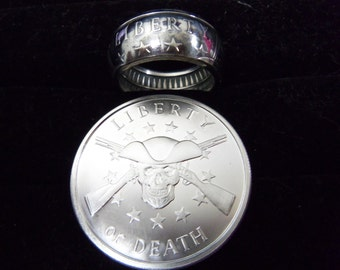 1 oz Liberty or Death coin ring