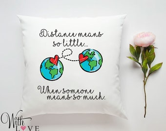 Custom map pillow etsy long distance relationship friendship world map quote personalised custom made pillow cushion photo gift customised gumiabroncs Image collections