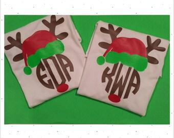 Youth Reindeer Monogram Shirt