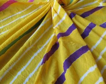 Yellow Stripe Fabric