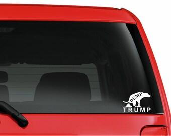 DUMP TRUMP cut vinyl window sticker Donald election 2016
