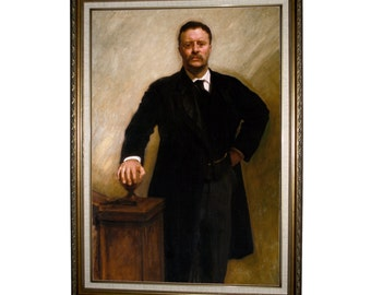 Theodore Teddy Roosevelt by Sargent Framed Canvas Print