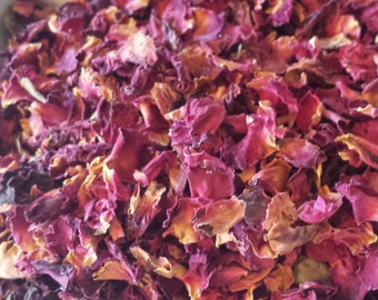 Rose petals 2 cups dried rose petals soap making supplies sachets tea blending ingredients candle making supplies dried herbs wedding rose