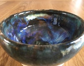 Blue Ceramic Serving Bowl / Ceramic Tapas Bowl/ Mayo Bowl/Ceramic Bowl/ Asian Sauces Bowl / Blue Stoneware Serving Bowl