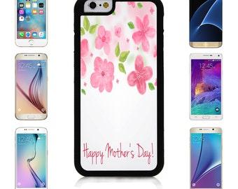 Cover Case for Apple iPhone 7 7 Plus 6 6S Plus Samsung Galaxy S7 Edge S6 Plus Note 5 6 7 8 9 10 att sprint verizon Painted Pink Flower
