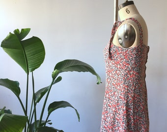 vintage flowery summer dress