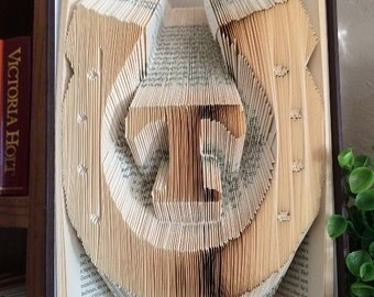 Horseshoe w/Initials Country Wedding Folded Book Art