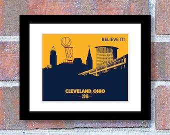 Cleveland's New Skyline, Cleveland Cavs, Cavs Championship, Cleveland Ohio, For Him, 2016 Champions Cavs, Cleveland Cavaliers
