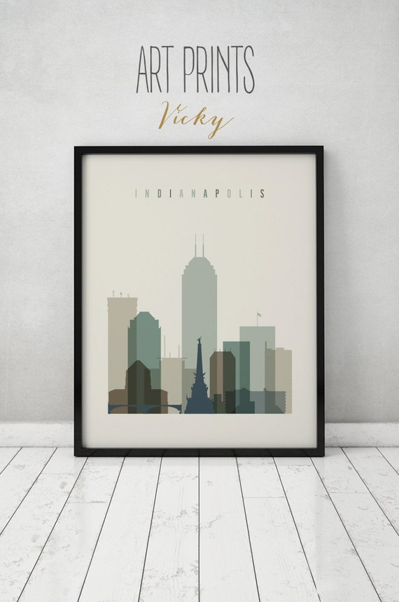 home decor stores indianapolis indianapolis print poster wall indiana cityscape 11182
