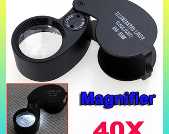 Clearance Sale 40X LED Eye Jeweller Magnifying Glass Magnifier Loupe  U.S.A.Seller with Fast Shipping