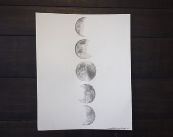 8 x 10 moon phases