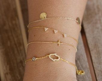 925 silver bracelet, minimalist